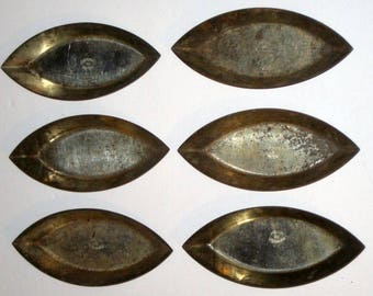 6 Antique (1910) French Tin Baking Molds for Crafting