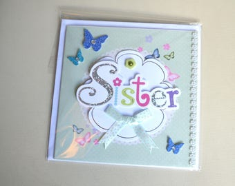 Handmade 'Sister' Greeting Card