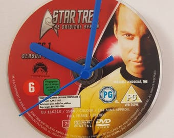 Star Trek original series DVD clock Captain Kirk/ William Shatner
