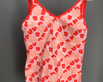 Vintage 60s/70s Swimsuit/Swimwear / Flower Power / Retro Stylish