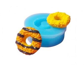 Miniature donut with Chocolate Sauce Pan