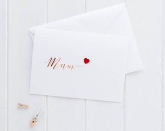 Rose Gold Foil Mothers Day Card