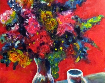 Floral painting, Colorful Floral, From Jimmy with love