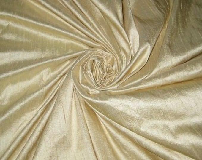 """Beige or Light Cream Bridal 100% dupioni silk yardage By the yard 55"""" wide"""