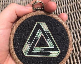 Penrose Triangle Hand Embroidery