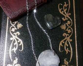 Mineral Slice stone necklace