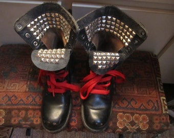 Studded Combat Boots Size 5  Narrow