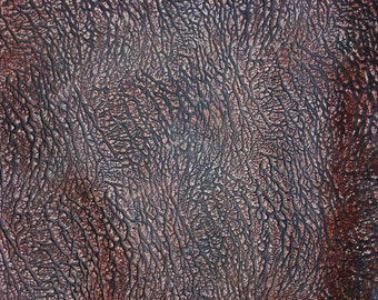 """Leather 8""""x10"""" SAFARI Elephant Antique CHESTNUT Deep Grained  Embossed Fairly Firm Cowhide 4 oz/ 1.6 mm PeggySueAlso™ E2887-04 Limited"""