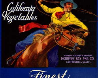 Four Vintage Crate Labels with Horses