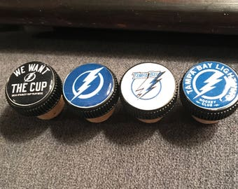 Tampa Bay Lightning Wine Cork Stoppers s/4