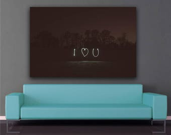 I Love You Photo Print Wall Art Poster