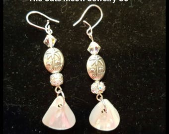 Sterling Silver and Shell Ear-rings