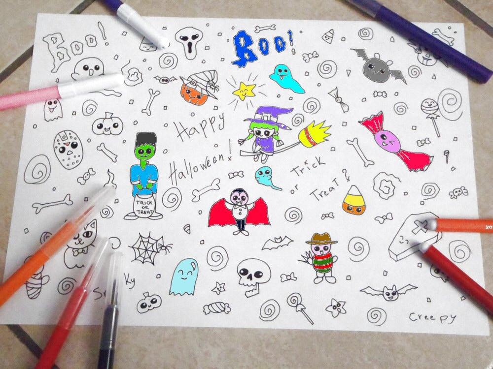 Pagina da colorare bambini halloween carini kawaii baby mostri for Foto di disegni kawaii
