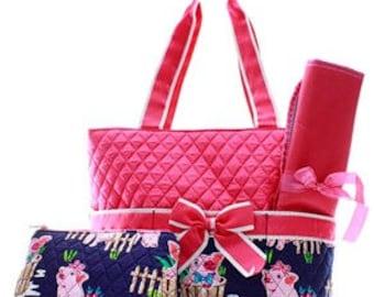 Preppy Pig Diaper Bag WITH Monogram option