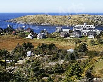 Monhegan Island Aerial Maine Panoramic Photography
