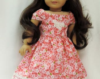 18 inch American made dress, headband for girl dolls