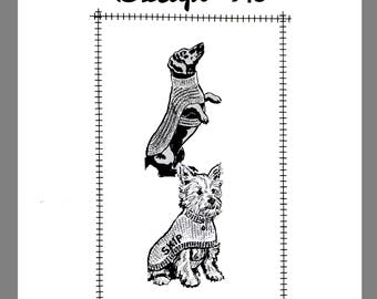 Dog's Knitted and Crocheted sweaters  Vintage Mail Order Crocheting pattern # 915 Copy / Reprint PDF Delivery