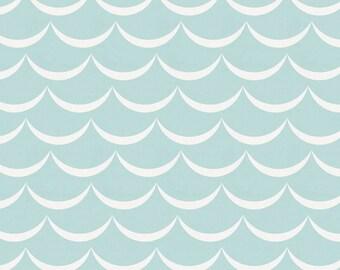Mist Waves Organic Fabric - By The Yard - Neutral / Modern / Nautical