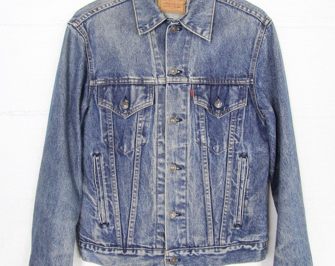 ORIGINAL Levi's Vintage Jean Trucker Jacket Size M Medium 38 Denim Jacket