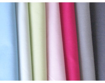 American Made Brand Cotton Solids Fat Quarter Bundle of 7