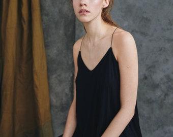 spaghetti strap top, minimal, elegant blouse