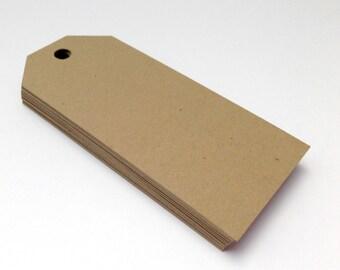 Kraft Luggage tag - Rustic Wedding Tag - Wishing Tree Tag - Paper Tag - Blank Favor Tag - Paper Luggage Tag - Suitcase Tag - Classic Luggage