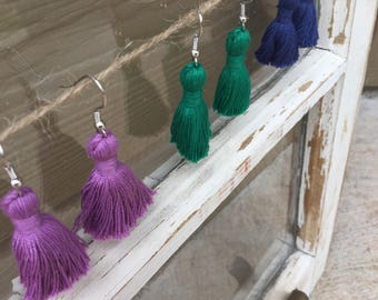 Tassle dangle earrings