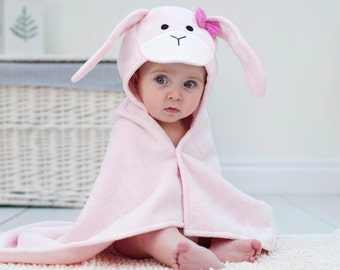 Hooded towels etsy hk bunny baby towel rabbit bunny ears baby gift bunny baby shower negle Gallery