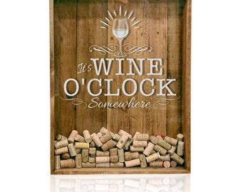 18x24 Wine Cork Holder, Wedding Gift, Shadow Box, House Warming Gift, Shadow Box Cork Holder