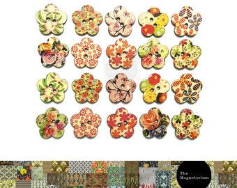 Flower Fridge Magnet Set