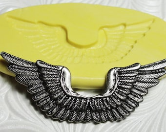 STEAMPUNK WINGS MOLD Flexible Silicone Push Mold for Resin Wax Fondant Clay Fimo Ice 5201