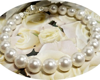 Bridal Bracelet, White Pearl, Wedding Jewelry, Bridesmaid, Pearl Bracelet, Bridal Accessories, Bridesmaid Gift, Ivory Pearl Bracelet