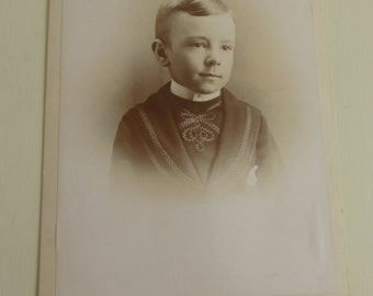 Antique Cabinet Card Handsome Young Boy   CC415