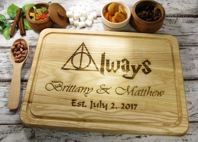 Wedding Gift For Fiance: One Year Anniversary Cutting Board For Boyfriend 1 Year