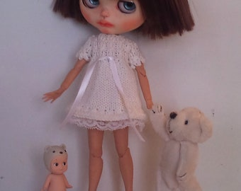 Knitted summerdress for Blythe or Pullip