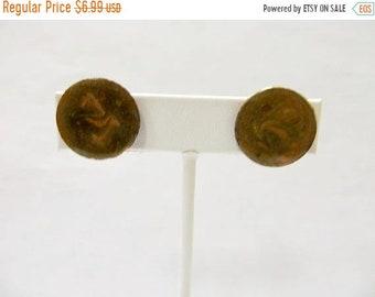 On Sale Vintage Copper Enameled Earrings Item K # 1104