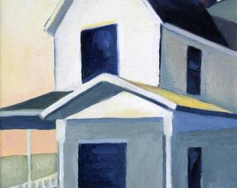 Blue Window Original Oil Painting Giclee Print Art Print House Decor
