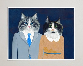 Art Print - Siberian Cats - Signed by Artist - 3 Sizes - S/M/L