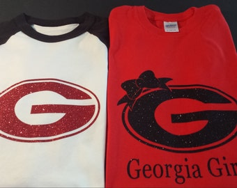 Georgia bulldog shirt, Georgia girl shirt, Georgia football shirt,