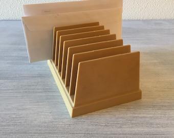 Vintage Letter File, LP Holder, Desk Organizer, Desk File, Mid Century Letter File, Organizer, Record Storage