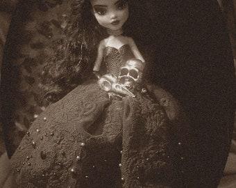 Monster high Frenkie ooak doll repaint by Trofimova free shipping