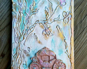 Fairytale Guest Book, Enchanted Book, Wedding Guest Book, Mixed Media Journal, Mystical Journal, Magic Book