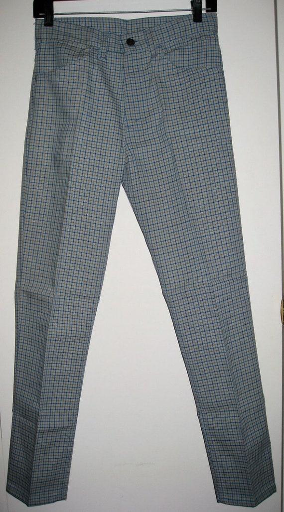 E Ivy NOS Leg Prest Vintage Plaid Floods Deadstock 29X29 Jeans Sta Peg Pants measures Big 1960's 28x28 League LEVI'S Slacks Tapered 1OIwwqFAW