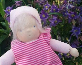 Waldorf doll, cuddle doll,  doll for toddler,  soft stuffed doll, steiner doll