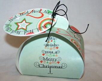 Digital download Christmas favor box; printable gift box