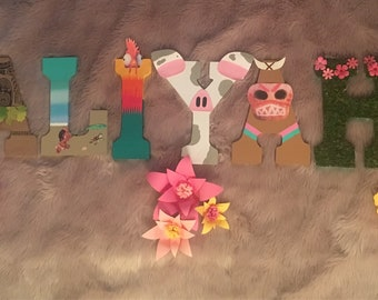 Moana Themed Letters