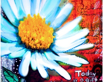 Flowers art print garden archival print  art print   garden painting  flowers art print