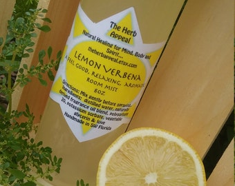 Lemon Verbena Home Mist...Refreshing, Calming, Aromatic 4oz or 8oz