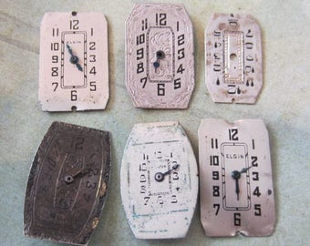 Watch Faces - Featured - Vintage Antique Watch faces -  Assortment Faces - Steampunk - Scrapbooking C86
