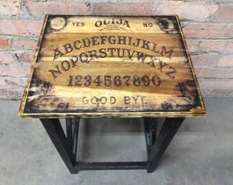 Rustic Ouija Board Side Table